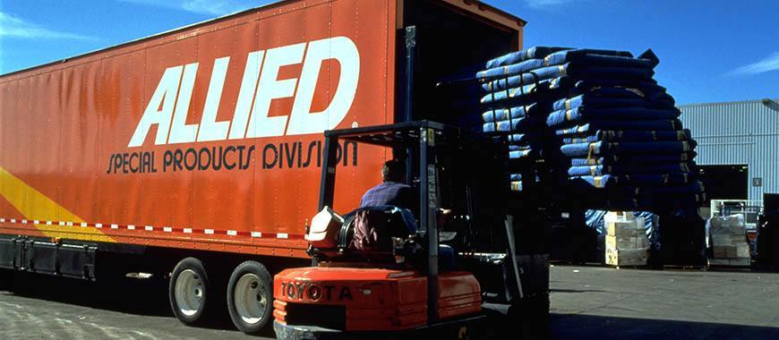 Allied Van Lines moving truck for Storage Commercial Logistics Services