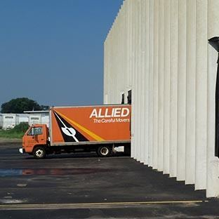 Piepho Moving & Storage Allied Van Lines truck at La Crosse warehouse storage facility loading dock