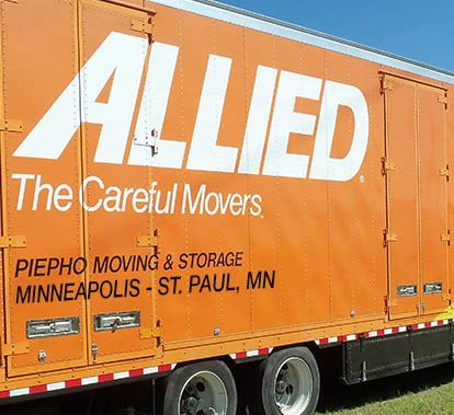 Piepho Moving & Storage, Minneapolis St. Paul movers, and their moving truck with Allied Van Lines logo on the side