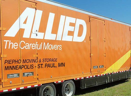 Allied Van Lines agent in the Twin Cities, Piepho Moving & Storage, with their Minneapolis St. Paul moving truck