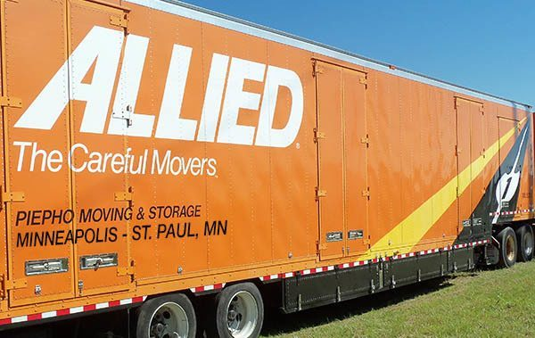 Allied Van Lines agent, Piepho Moving & Storage, with movers truck in Minneapolis St. Paul, also known as the Twin Cities MN