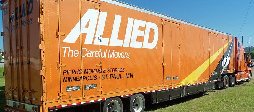 Piepho Moving & Storage, Minneapolis and St. Paul MN movers, moving truck with Allied Van Lines on side
